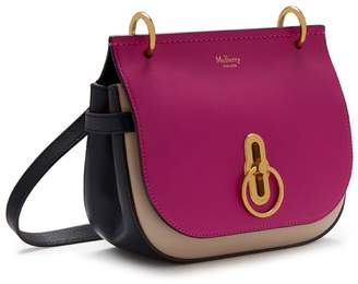 At Mulberry Small Amberley Satchel Deep Pink Dune And Midnight Silky Calf