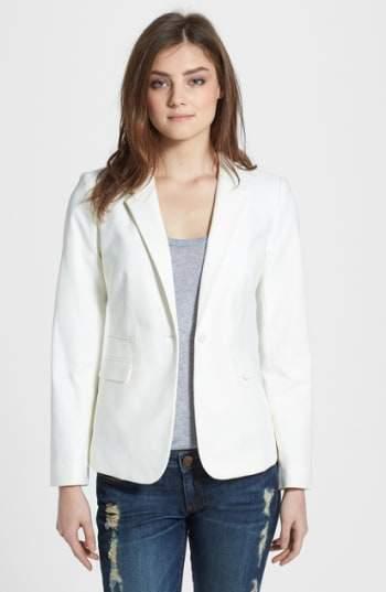 Vince Camuto Women's Stretch Cotton One-Button Blazer