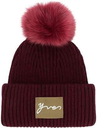 Yves Salomon Accessories knit pom pom beanie