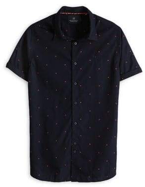 Scotch & Soda Printed Short-Sleeve Shirt