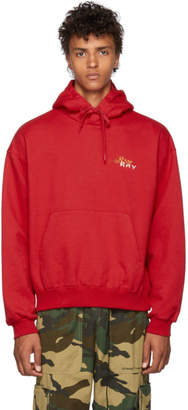 Doublet Red Chaos Embroidery Hoodie
