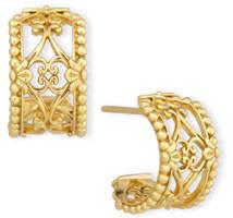 Konstantino Flamenco 18K Lattice Hoop Earrings