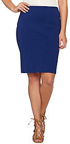 Shape Fx Ponte Knit Pencil Skirt with SeamDetail