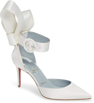 Christian Louboutin Raissa Bow Ankle Strap Pump
