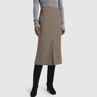 Victoria Beckham Fitted Box Pleat Midi Skirt