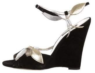 Dolce & Gabbana Suede Ankle Strap Sandals