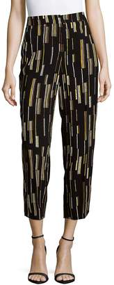 Prada Women's Pantalone Sable Nero Pants - Black-yellow, Size 38 (2)