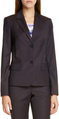 BOSS Jarana Rich Check Wool Suit Jacket