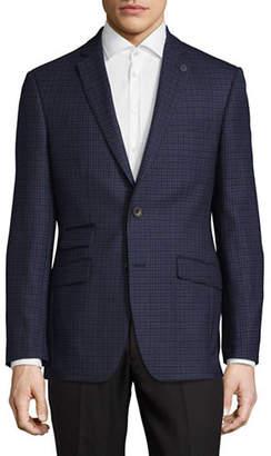 Ted Baker NO ORDINARY JOE Joey Plaid Wool Sports Jacket