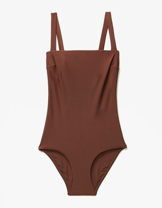 Square Maillot in Cocoa $280 thestylecure.com