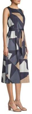 Lafayette 148 New York Sammy Print Midi Dress