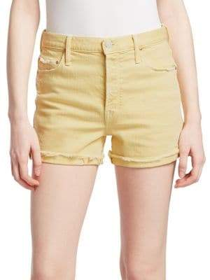 Mother Frayed Cuff Shorts