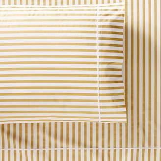 Pottery Barn Teen The Emily &amp Meritt Skinny Stripe, Extra Pillowcases, Set of 2, Gold