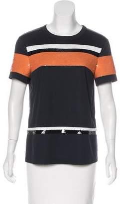 Cédric Charlier Sequin Short Sleeve Top