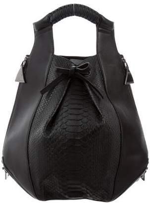 Nada Sawaya Python & Leather Lynn Backpack