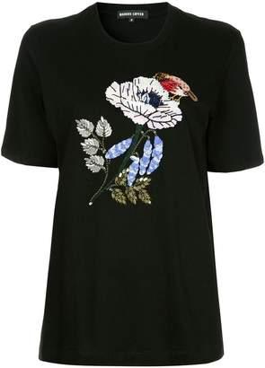Markus Lupfer floral appliqué T-shirt