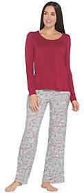 Soma Intimates Soma Cool Nights Long Sleeve Top & Printed PantPajama Set