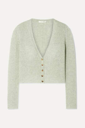 The Row Abigael Cropped Cashmere Cardigan - Mint