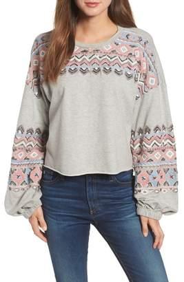Kas Embroidered Beaded Sweatshirt
