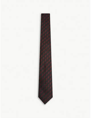 Givenchy Lightning bolt silk tie