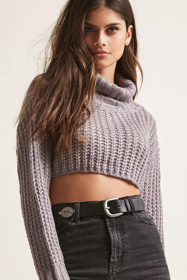 FOREVER 21 Sweater-Knit Crop Top