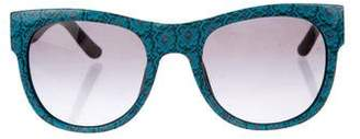 Tory Burch Printed Ca-Eye Sunglasses