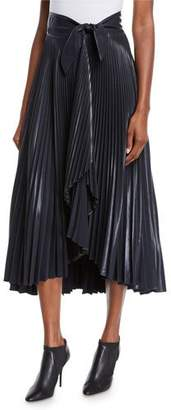 A.L.C. Eleanor Pleated High-Waist Midi Skirt