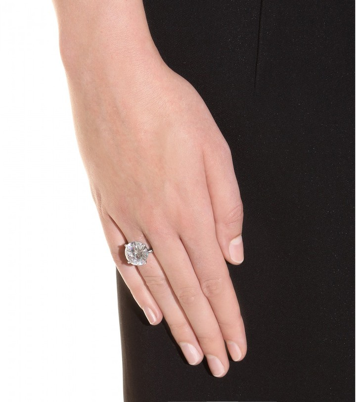Bottega Veneta Zirconia and silver ring