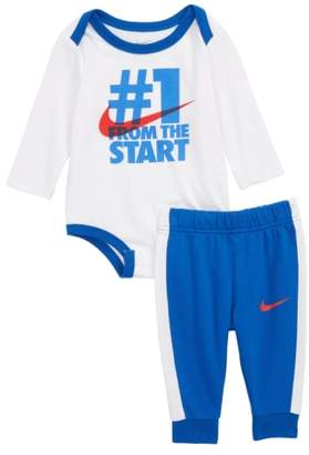 Nike Number One From the Start Bodysuit & Sweatpants Set