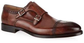 Magnanni Villar Leather Double Monk