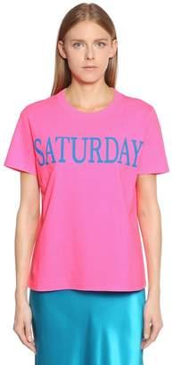 Alberta Ferretti Saturday Cotton Jersey T-Shirt