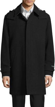 Ralph Lauren Men's Wool-Blend Hooded Topcoat