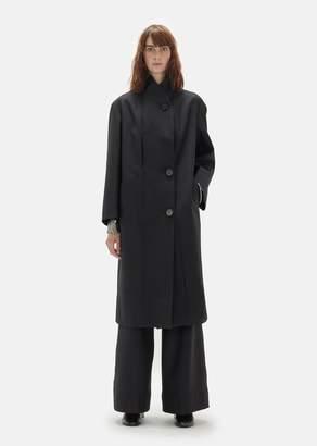 Lemaire Wool Serge Kaftan Coat Black