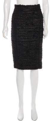 J. Mendel Knee-Length Pencil Skirt Black Knee-Length Pencil Skirt