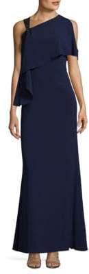 Aidan Mattox One Shoulder Floor-Length Gown