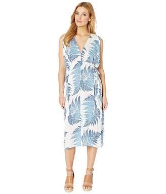 American Rose Naomi V-Neck Tropical Dress