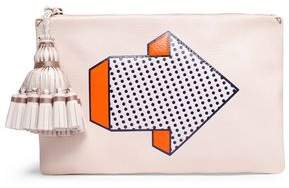 Anya Hindmarch Tasseled Printed Leather Pouch