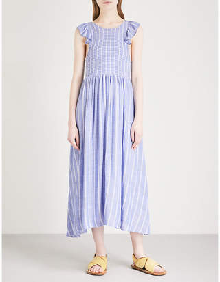 Free People Striped capped sleeved dress