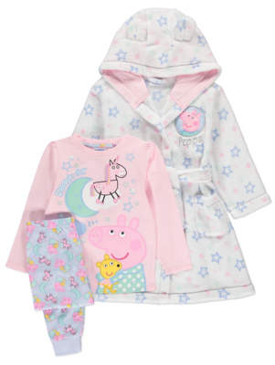 George Peppa Pig Pyjamas and Dressing Gown Set