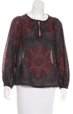 Marc by Marc Jacobs Wool Printed Blouse