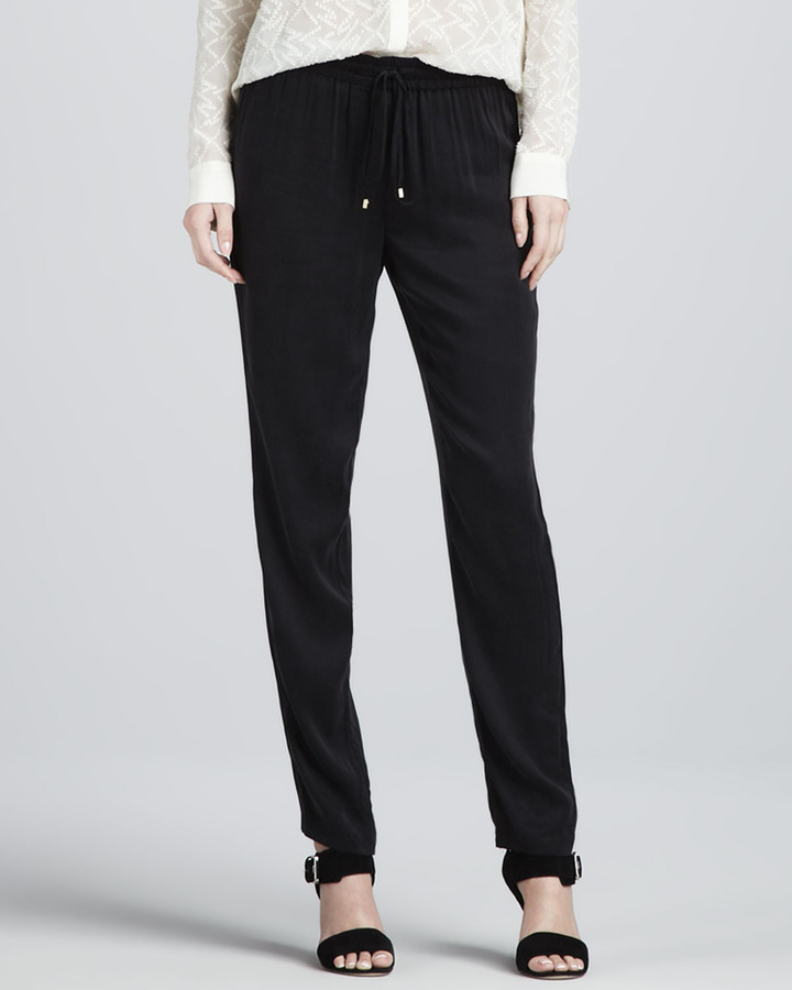Rebecca Taylor Pull-On Drawstring Pants (Stylist Pick!)