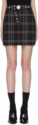 Alexander Wang Alexanderwang Slanted button check plaid herringbone mini skirt