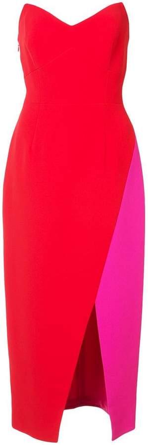 colour-block pencil dress