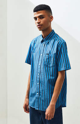 Obey Langton Striped Button Up Shirt