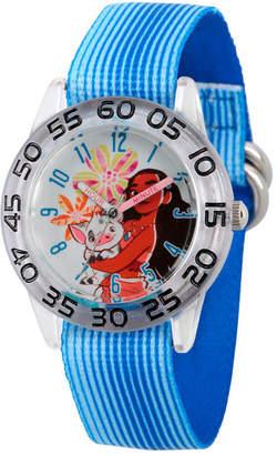 Disney Moana Girls Blue Strap Watch-Wds000044