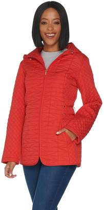 Susan Graver Quilted Jacket with Pockets and Hood