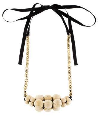 Marni Fabric Beaded Collar Necklace