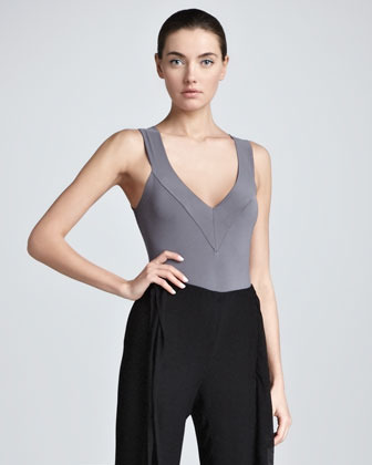 Donna Karan Sleeveless Stretch Bodysuit, Geode