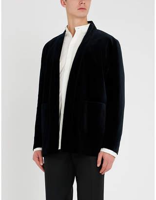 The Kooples Kimono-style velvet jacket