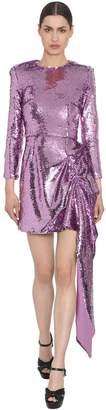 16Arlington Sequined Dress W/ Draped Detail